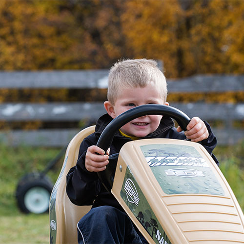Pedal trikes, wagon rides, petting farm, pumpkin slingshot and more fun at The Jungle Farm and General Store in Red Deer, Alberta